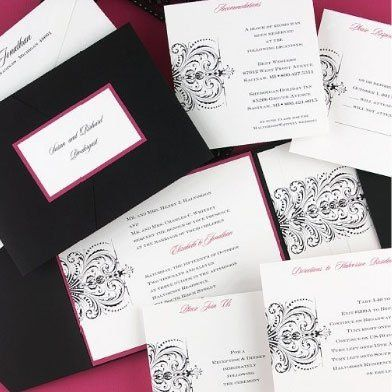 New layered pocket invitations from Carlson Craft