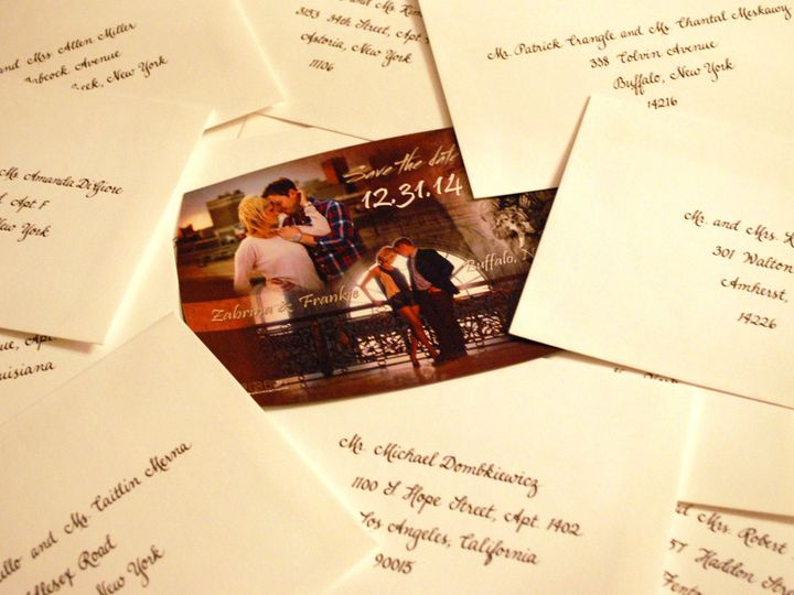 Tmx 1439499174333 Save The Date Envelopes Lancaster, NY wedding invitation