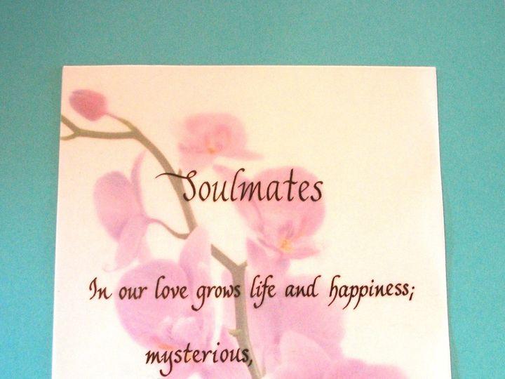 Tmx 1459866012772 Poem Calligraphy Teal Bkgrd 1 Lancaster, NY wedding invitation