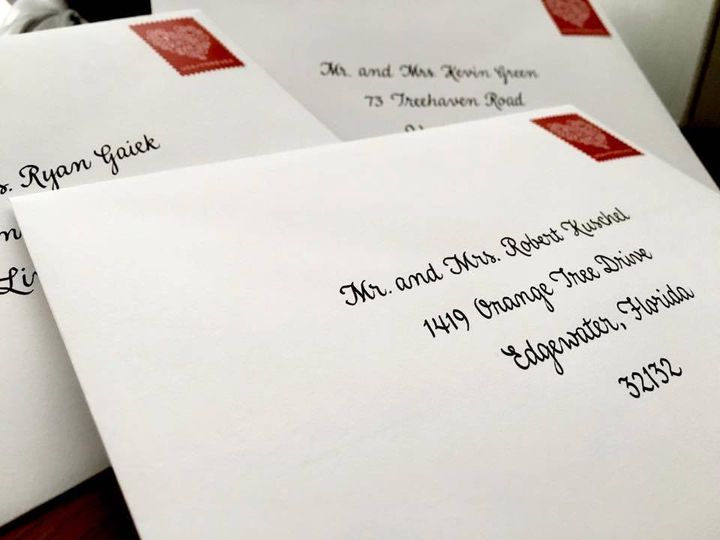 Tmx 1478009568499 Kaitlyn And Jesses Envelope Ready For Mailing Lancaster, NY wedding invitation