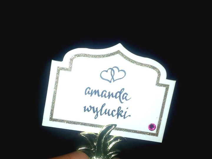 Tmx 1528748447 4d94e16d9e252778 1528748446 Eb8121f7b41ef543 1528748446291 4 Amanda Escort Card Lancaster, NY wedding invitation