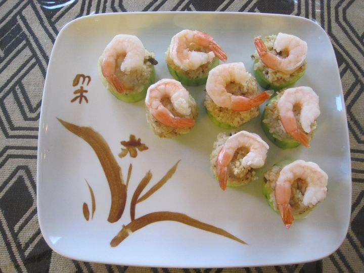 Cucumber with shrimp