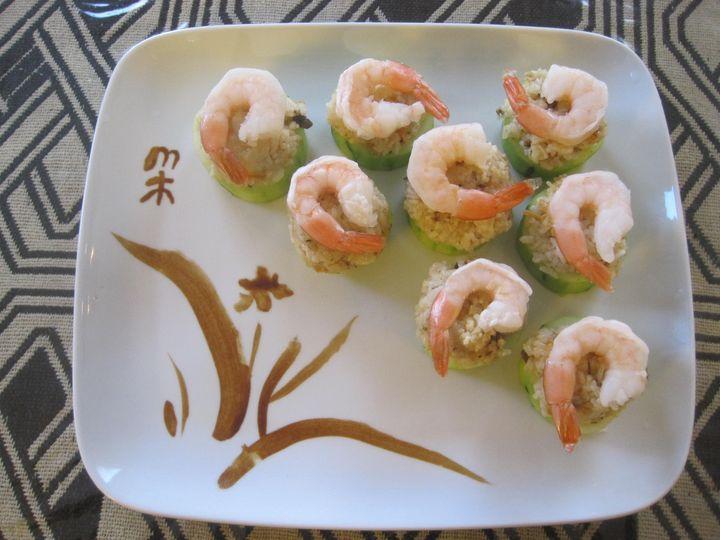 Cucumber with shrimp
