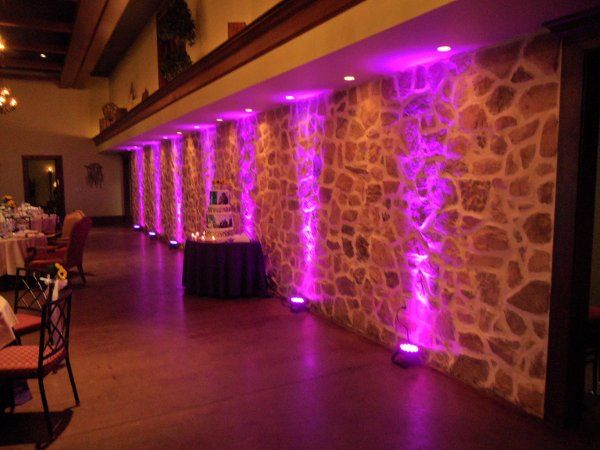 Uplighting is available in multiple colors