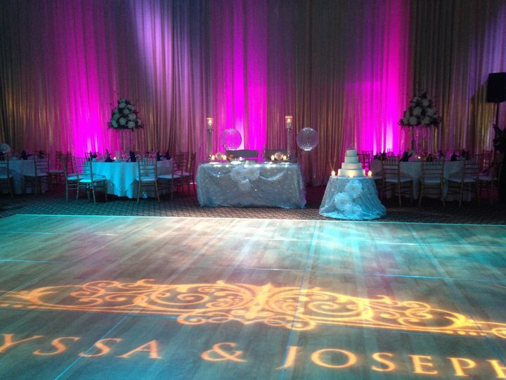 gobo with sweet heart table