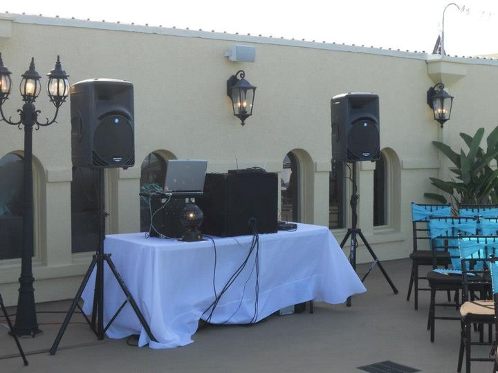 Outdoor booth setup