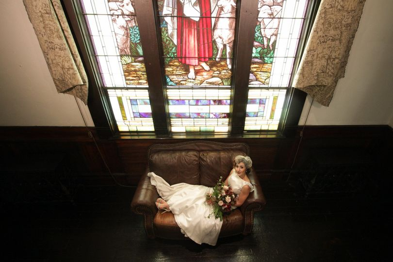 The bride by the window