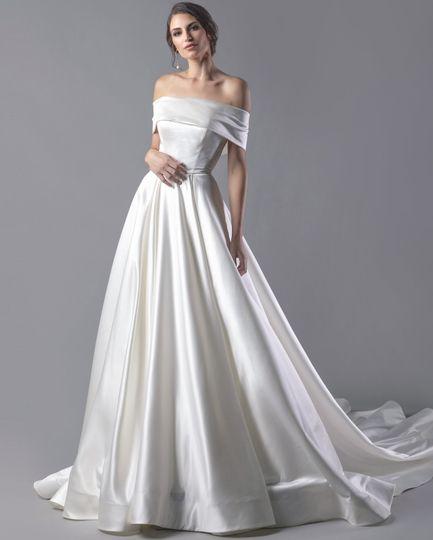 Classic satin ballgown