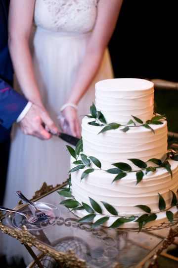 Textured Cake with Greenery