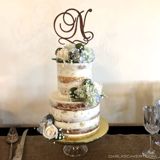 Buttercream and Gold Leaf