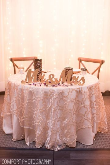 Head table - comfort photography