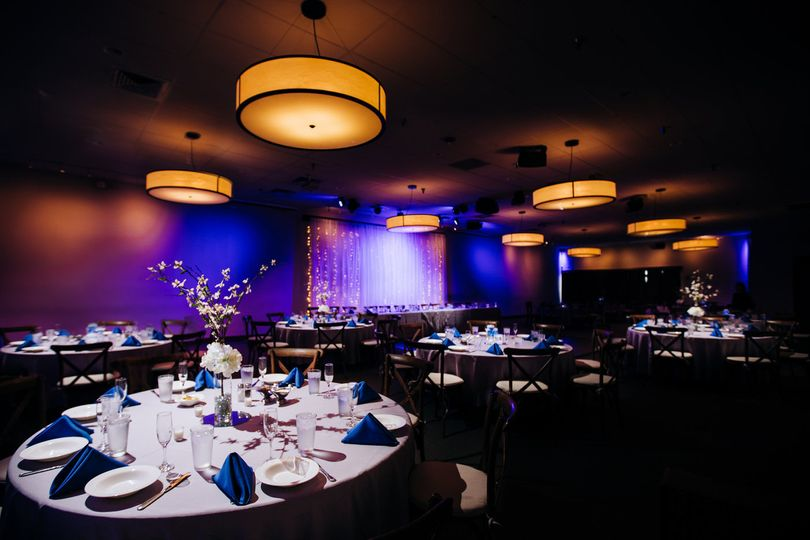 Ballroom with lighting