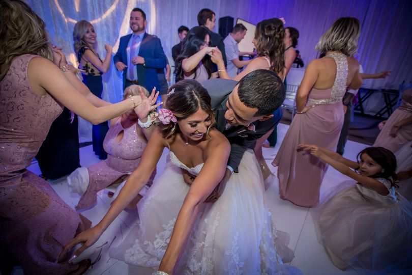 Getting everyone on the dance floor for this beautiful wedding at The Hyatt, Valencia