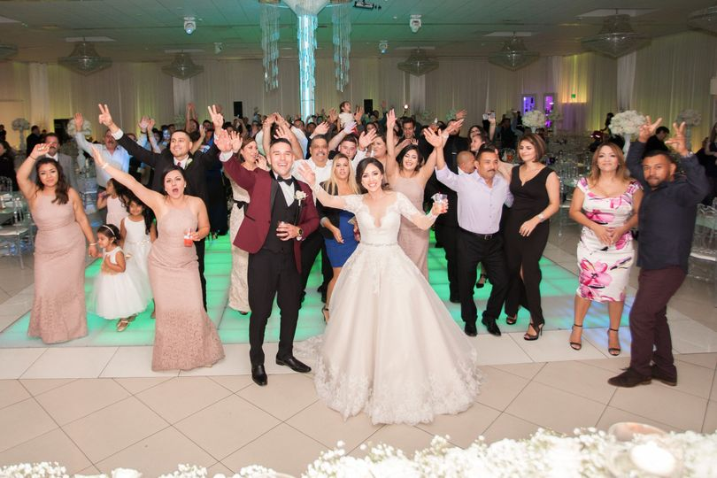 Keeping everyone on the dance floor for this fun wedding at the Signature Banquet Hall.