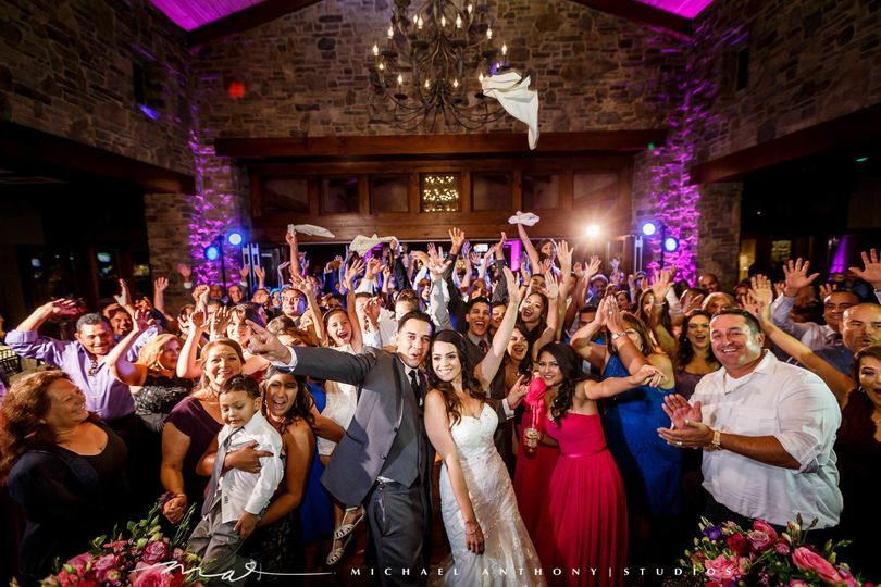 Wedding fun at The Oaks Grille Valencia with Michael Anthony Photography
