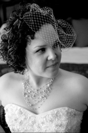 Bride with Cage Veil