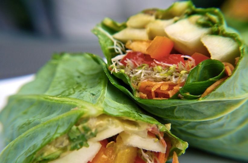 how to make raw vegan collard wraps