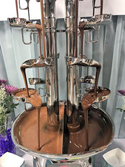 The chocolate fountain
