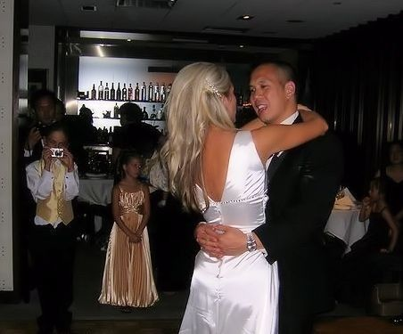 First dance as newlyweds