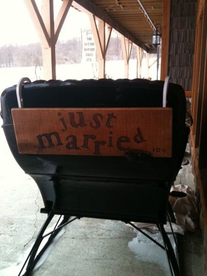 Our 2-person Sleigh available for weddings!