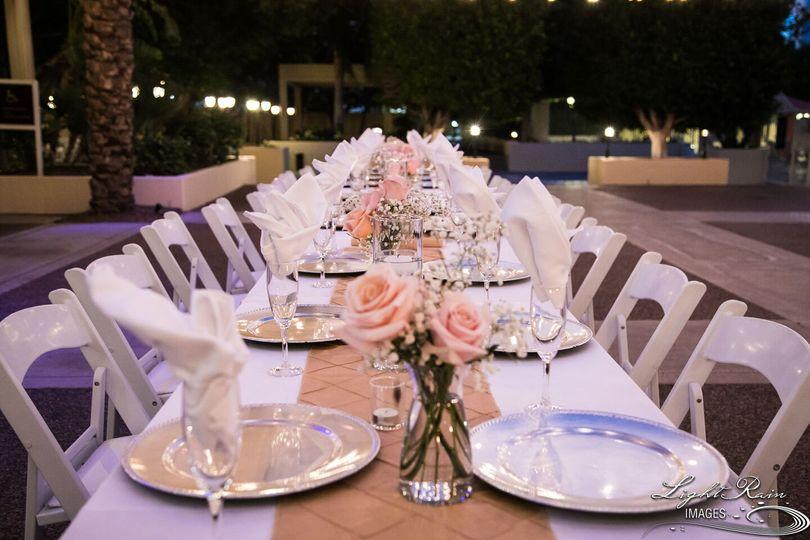 Courtyard dinner