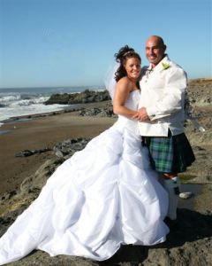Formal ceremony on the lava rock coastline at The Adobe Inn.