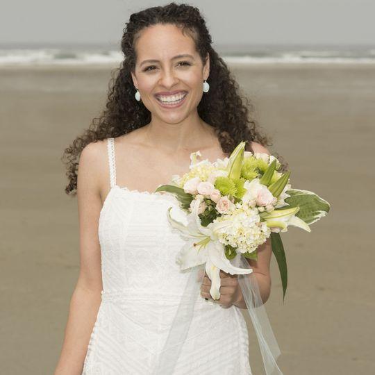 Beautiful beach bride.