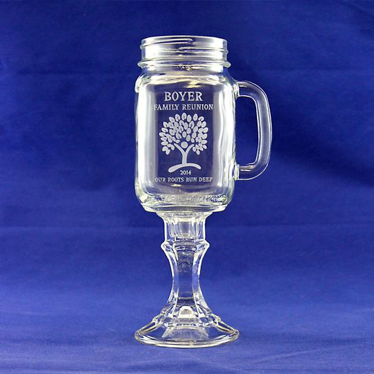 This custom jar 'wineglass' makes a perfect wedding gift or keepsake.  Each is permanently...