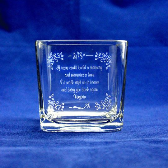 "This is a beautiful Memorial Candle Keepsake to honor loved ones that are ""gone but not forgotten""..."
