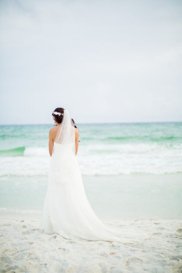 Bride by the shore