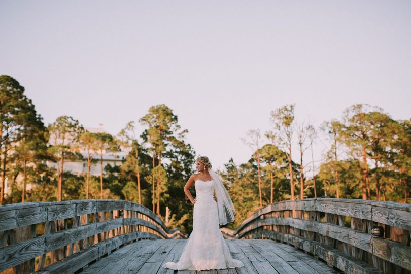Bride on the bridge