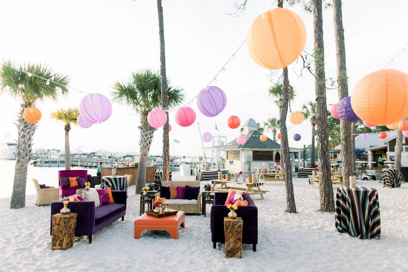 Beach lounge area