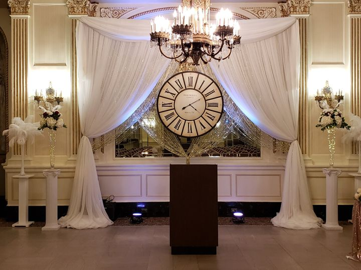 New Years Eve ceremony decor