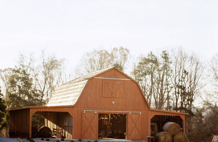 Exterior view of The Barn at Cedar Ridge