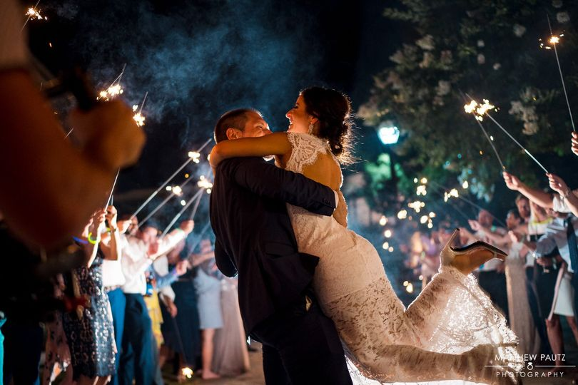 Sparkler celebration | Photo by Matthew Pautz