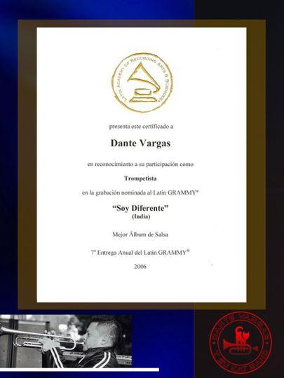 Dante Vargas Grammy