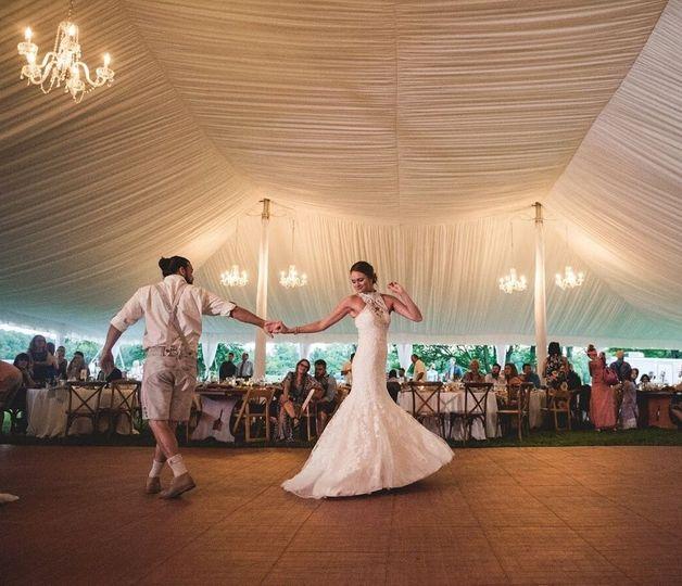 Draping, chandeliers, ika dance floor summer 2017