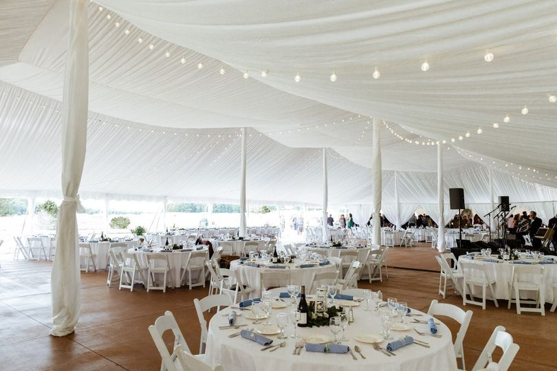 Tent Liner with Cafe Lights