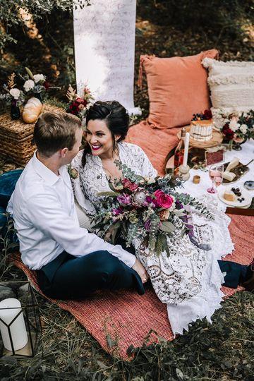 Newlyweds on the floor | Maxyne Leanne Photography