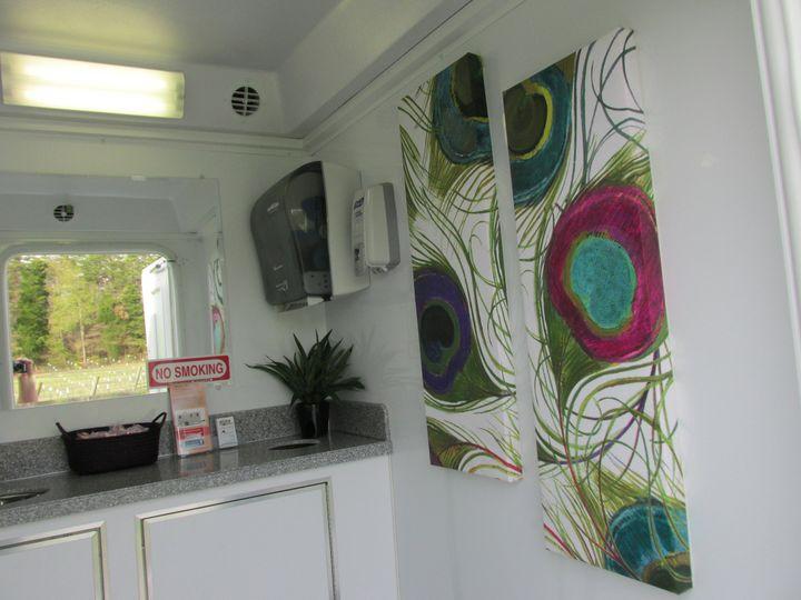Art inside the restroom