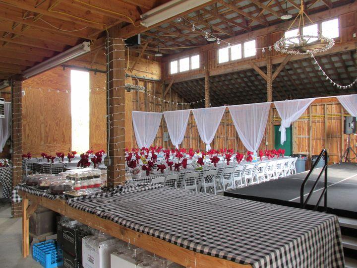 Barn reception setup