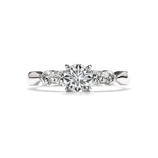 hearts on fire ring five stone solitaire 4stb00208