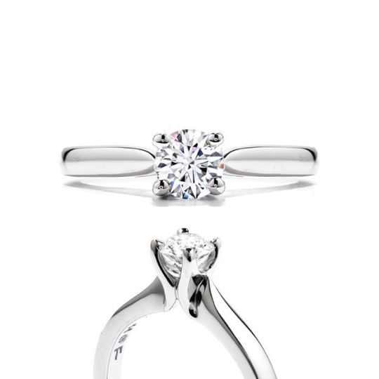 hearts on fire ring purely bridal four prong hbrpb