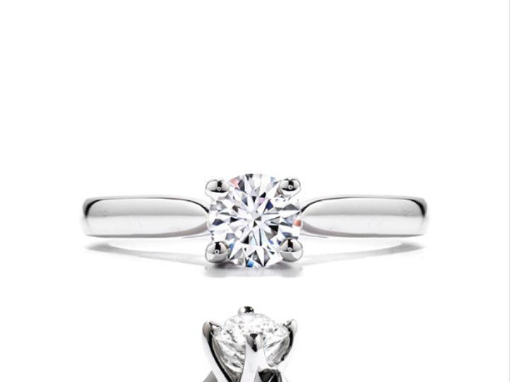Tmx 1390187013113 Hearts On Fire Ring Purely Bridal Four Prong Hbrpb San Luis Obispo wedding jewelry