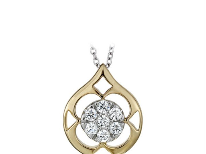 Tmx 1390187378646 Hearts On Fire Gold Platinum Copley Pave Pendant H San Luis Obispo wedding jewelry
