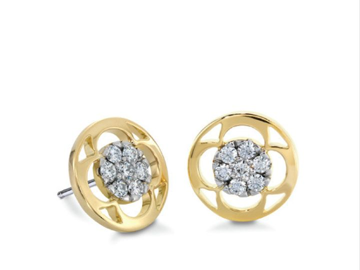 Tmx 1390187381066 Hearts On Fire Earrings Yellow Gold Copley Pave St San Luis Obispo wedding jewelry