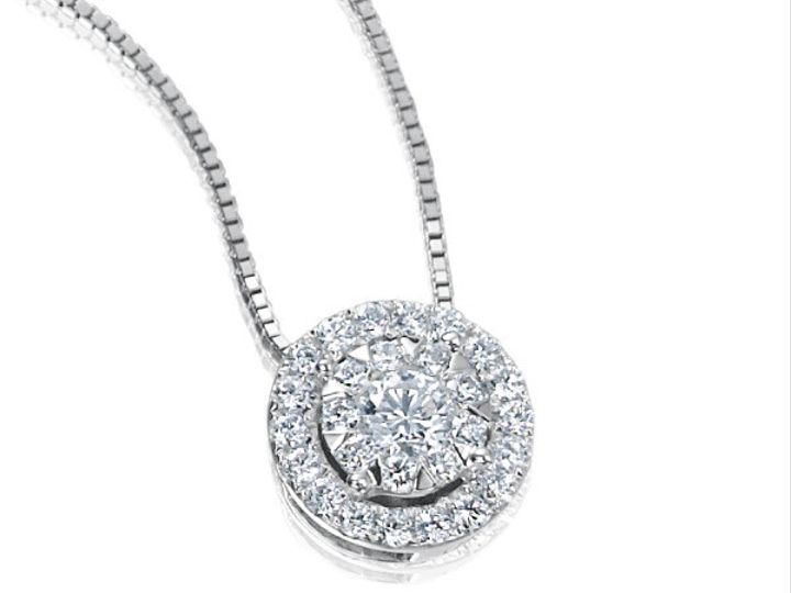 Tmx 1390187867325 Forevermark Diamond Pendant Memoire Bouquet Halo 0 San Luis Obispo wedding jewelry