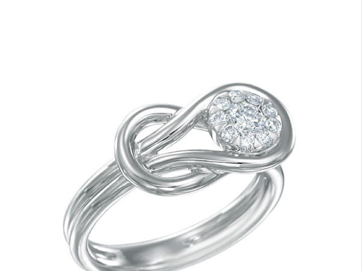 Tmx 1390187873834 Forevermark Diamond Ring Memoire Love Knot Bouquet San Luis Obispo wedding jewelry