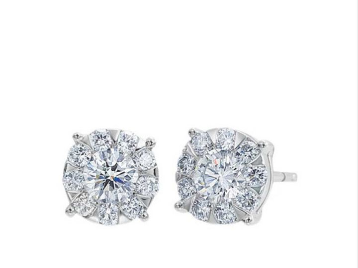 Tmx 1390187882370 Forevermark Diamond Bouquet Studs White Gold 001 1 San Luis Obispo wedding jewelry