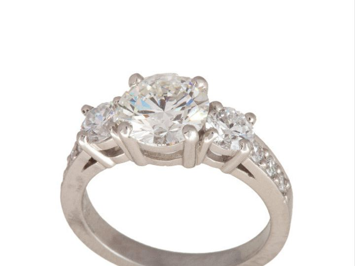 Tmx 1390188021900 Designed By Kevin Main 3 Stone Engagement Ring 001 San Luis Obispo wedding jewelry